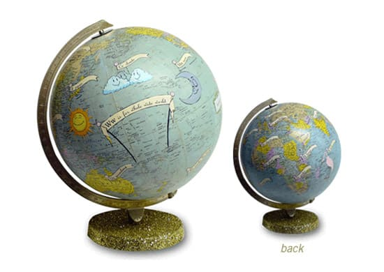 Prodigious art on world globes so when you think its time to spice up your office desk you should definitely check out imaginenations for some ideas wendy gold will thank you gumiabroncs Gallery