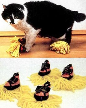 cat duster slippers
