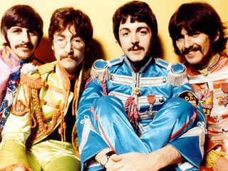 Beatles sitting
