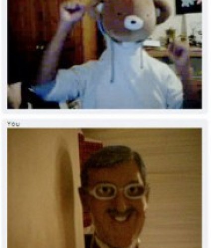 chat roulette screenshot funny mask
