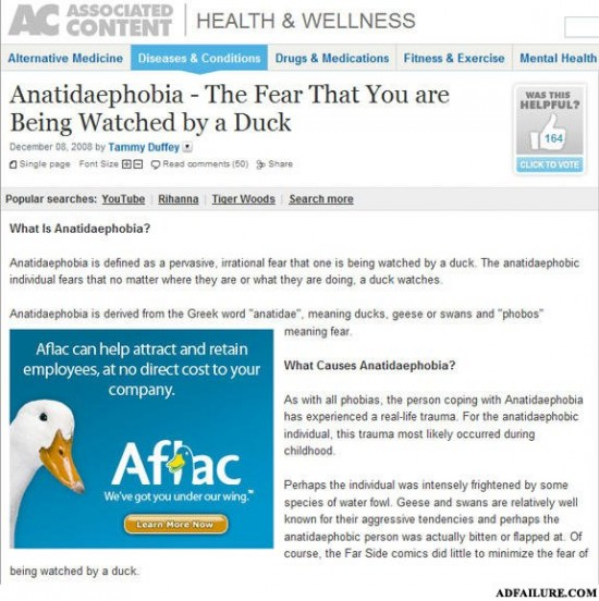 Funny Advertisement Fails and Duck Phobia
