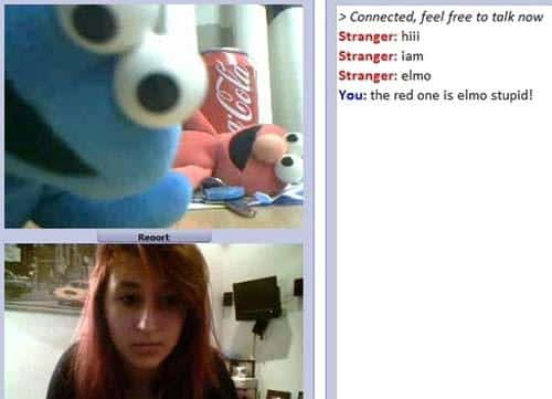funny chat roulette elmo stupid