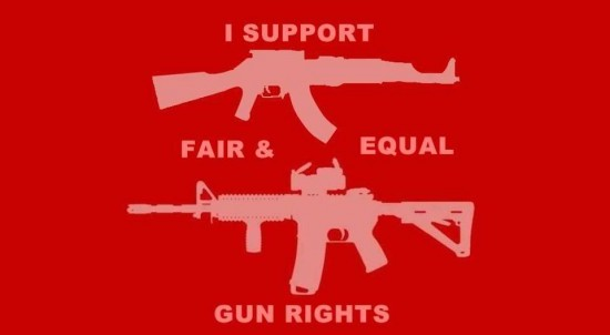 Versions of the Equal Rights Symbol on Facebook and the Guns Parody