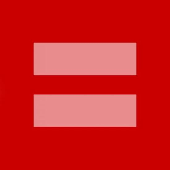 Equal Rights Symbol Versions on Facebook and Real Red Equal Sign