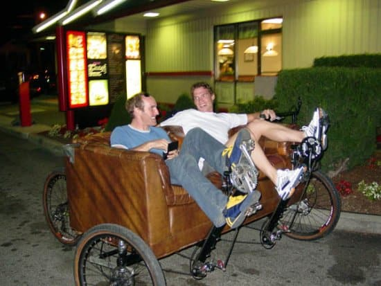 Strange Methods of Transport and The Couch Bike