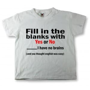 Least Funny T-shirt Jokes and the No Brains Joke