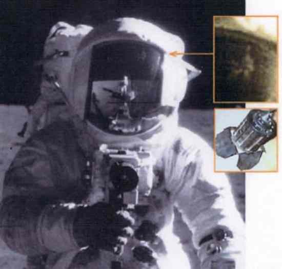 Controversial Points about the Moon Landings and Helmet Reflection