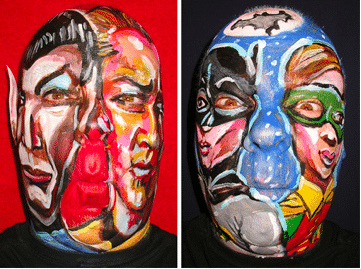 The Famous Double Act Faces and Weirdest Painted Faces