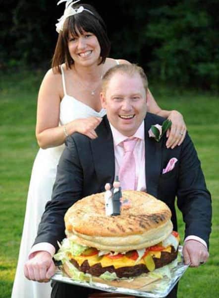 The Hamburger Wedding Cake