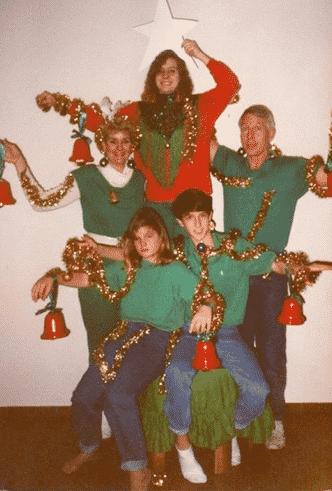 Horrible Christmas Cards and The Human Christmas Tree Card