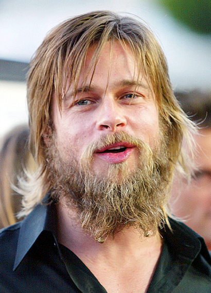 Brad Pitt's Bad Hair and Beard Day