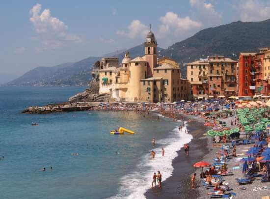 Camogli is an Italian coastal town