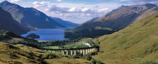 Jacobite steam train Scotland