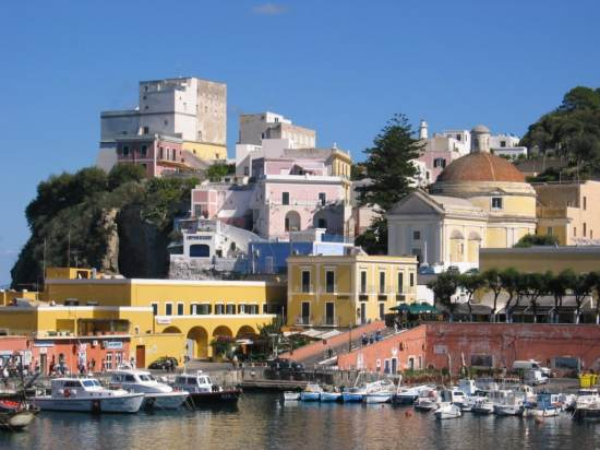 Ponza is an Italian coastal town