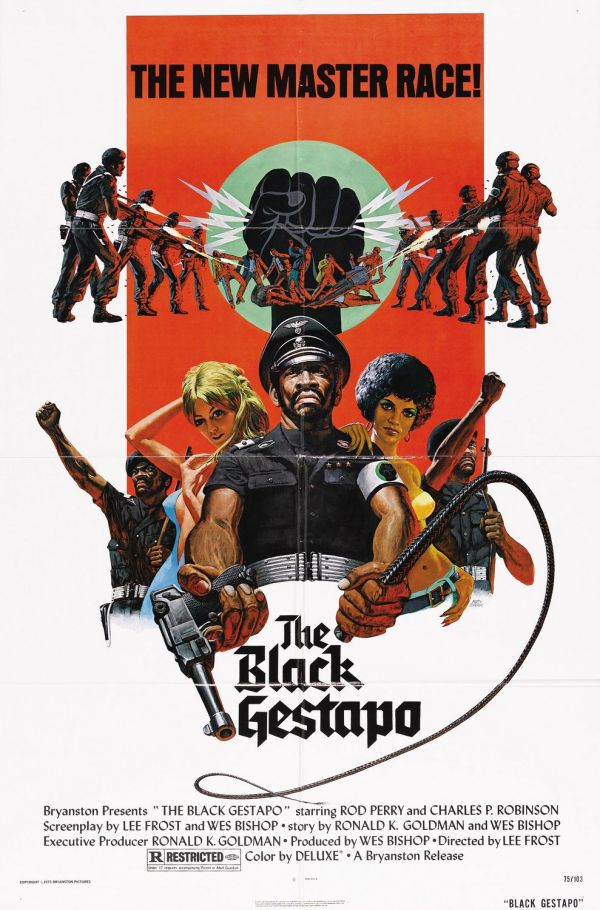 Here's one of the movies so awful you can't disengage: The Black Gestapo (1975).