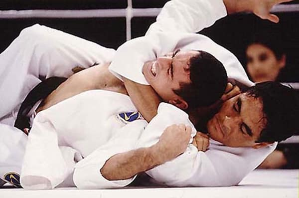 One of 5 top brutal effective martial arts, Brazilian Jiu Jitsu, developed by the Gracie family, a member of whom is photographed here competing.