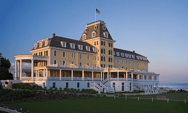 The list of 5 beautiful luxurious hotels includes Ocean House in Rhode Island