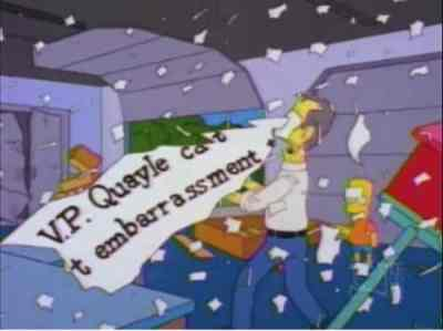 There are hidden political references in The Simpsons.