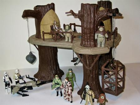 The Ewok village was later remodeled.