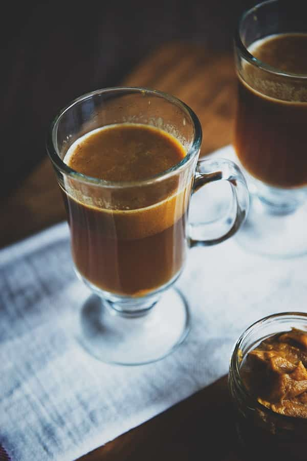 One of the 6 winter holiday drinks is hot pumpkin buttered rum cocktail