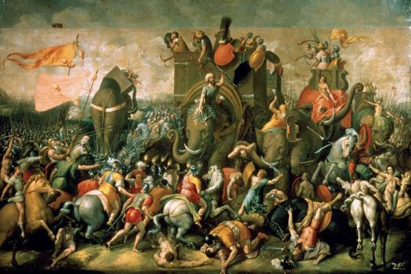 The Punic Wars involved huge elephants.