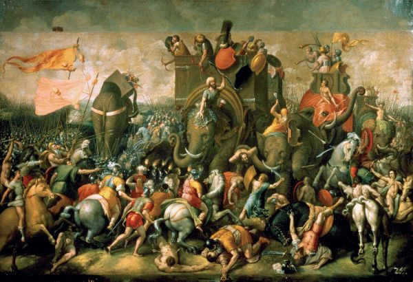 The Punic Wars involved huge elephants.