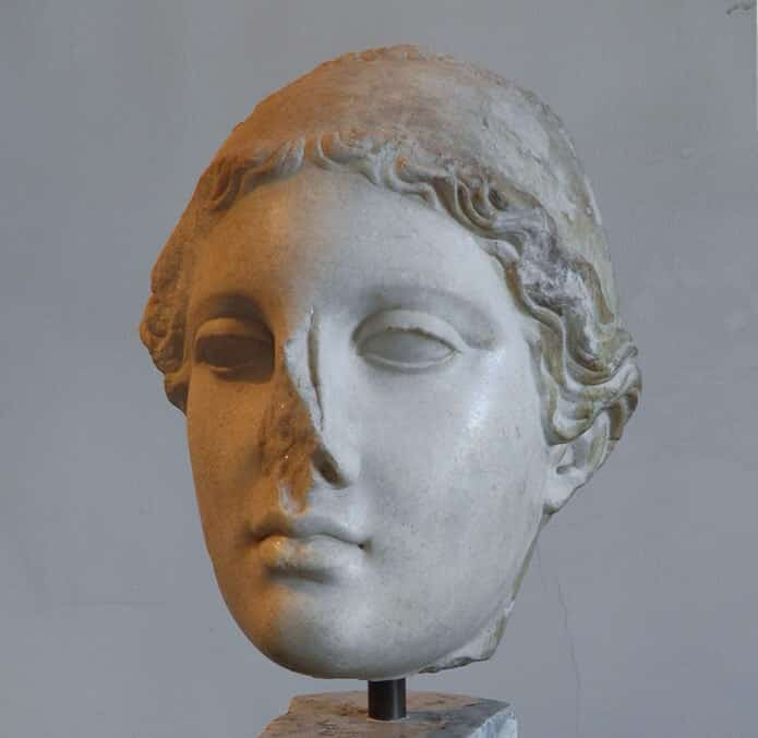 Head of Hygeia, aughter of the god of medicine