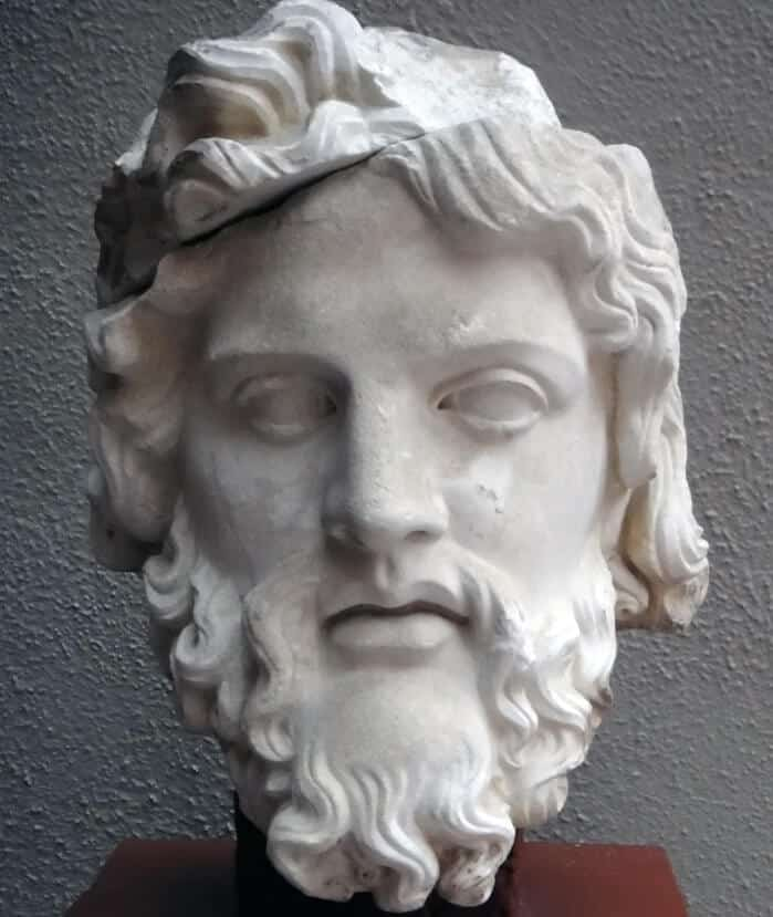 Head of Zeus Greek artifact