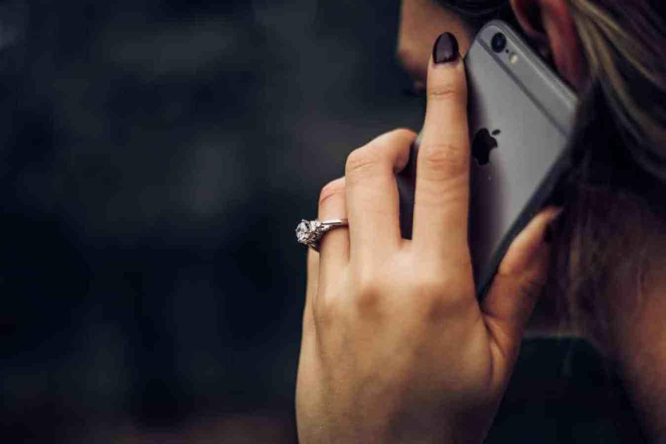 woman taking a phone call