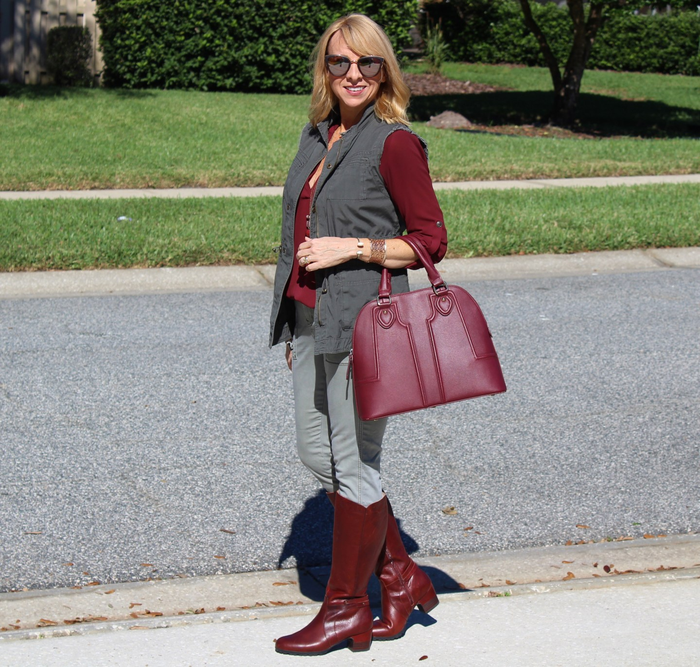 burgundy-and-olive
