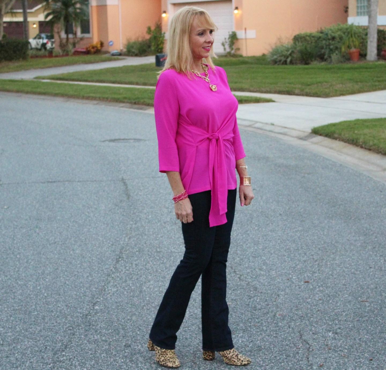 #Hot Pink Wrap Top