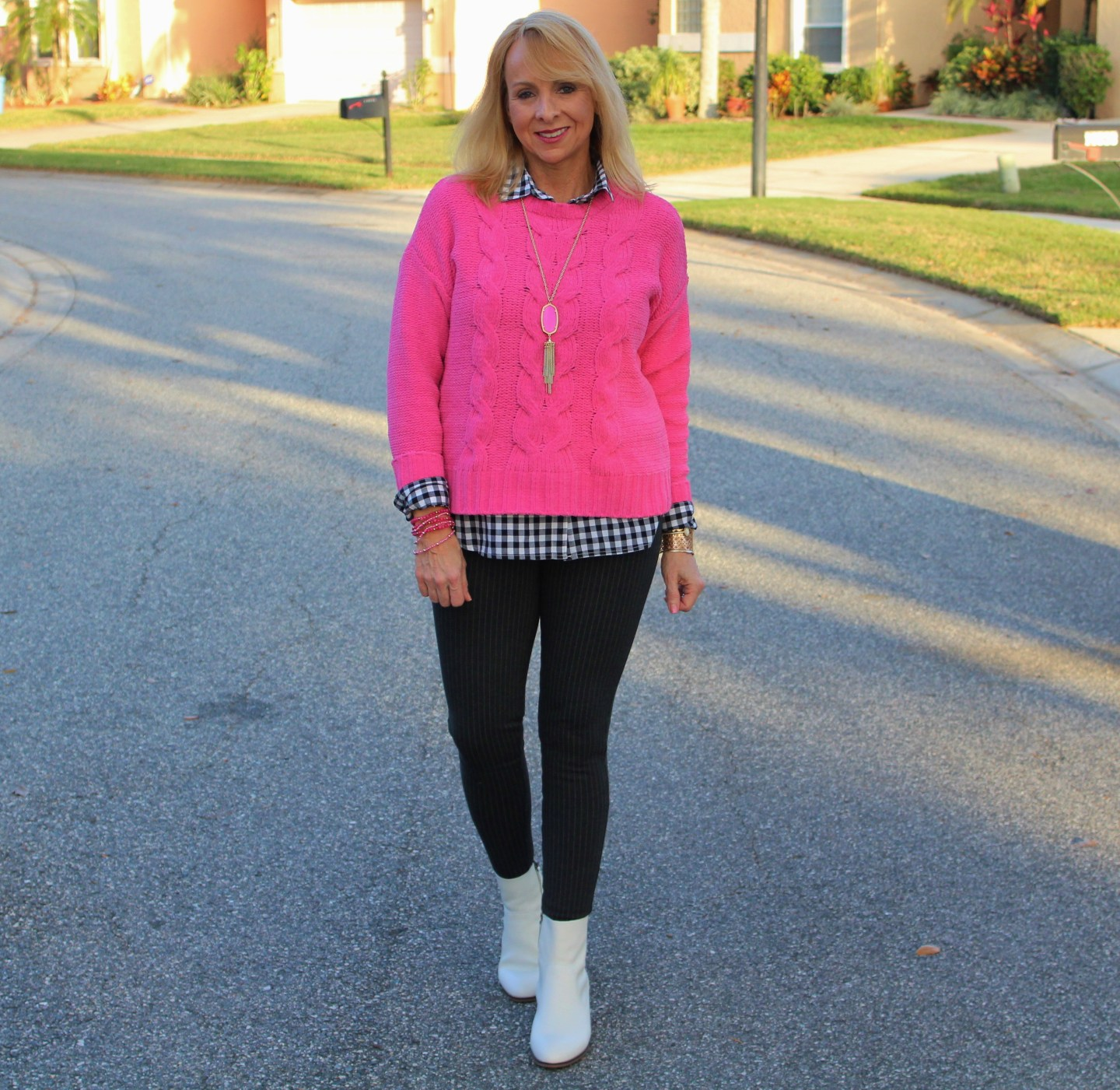 #Hot Pink Sweater