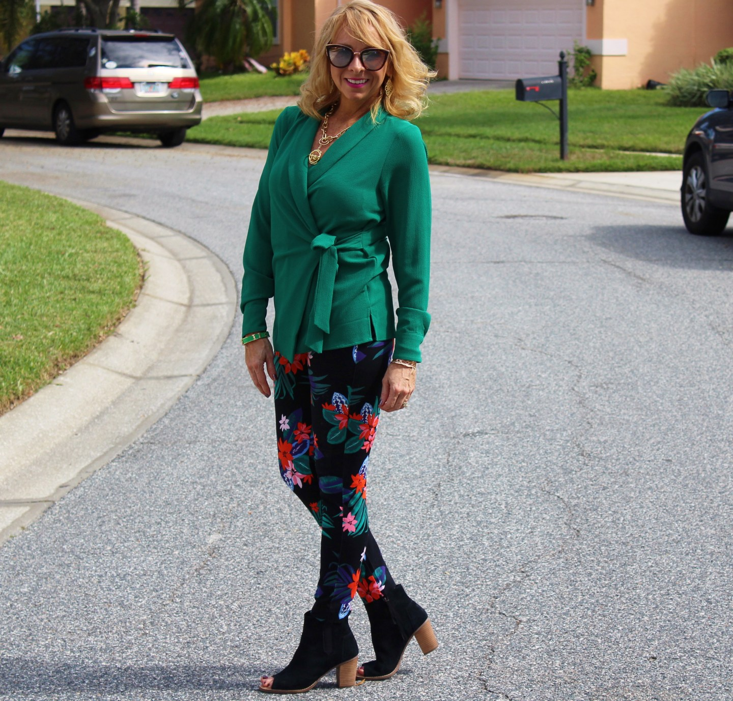 #Green Wrap Top
