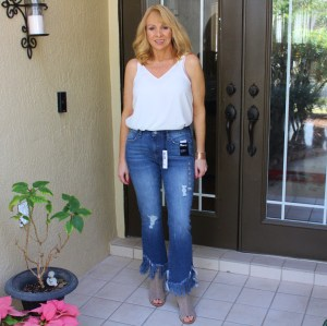 #Crop Flare Jeans