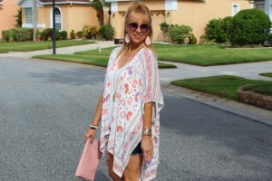 Kimono + Denim Shorts