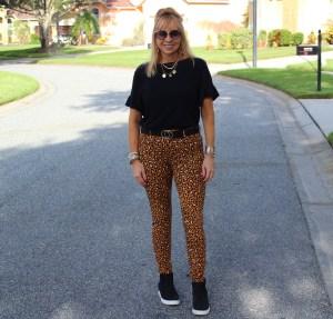 Wedge Sneakers + Leopard Pixie Pants