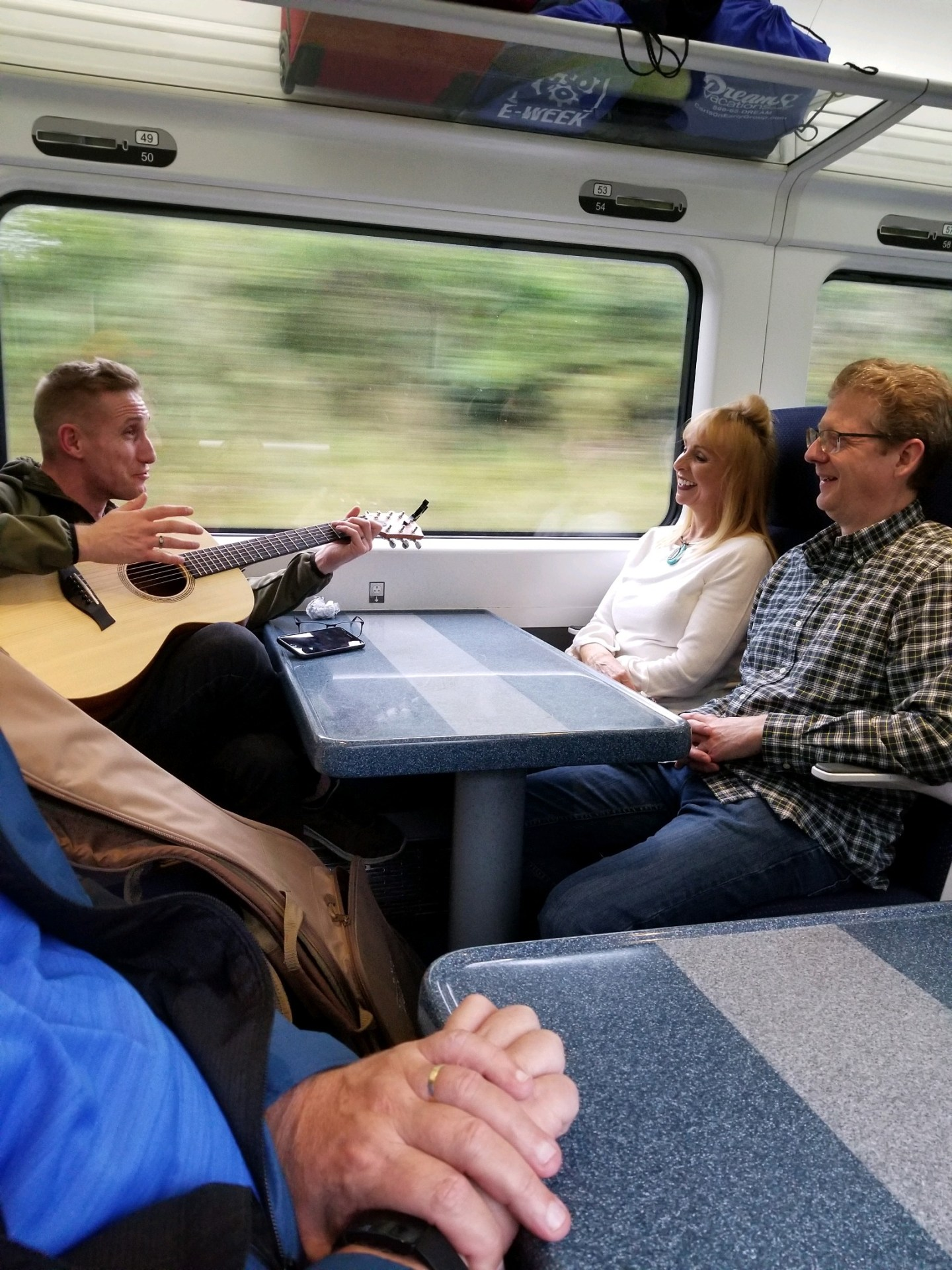 Guitar on Train