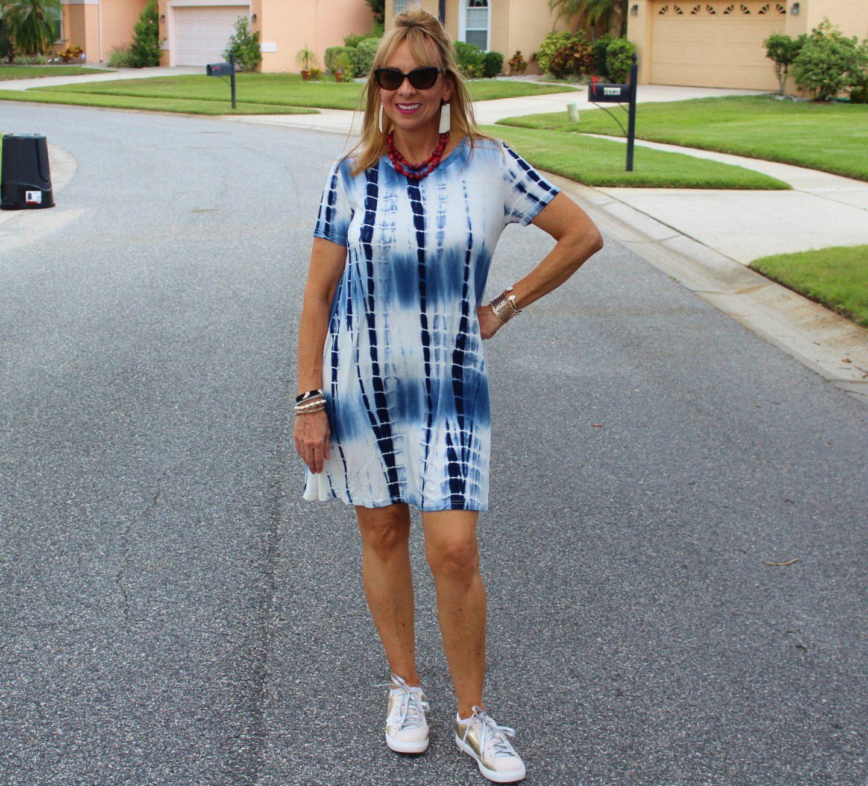 Tie Dye Dress + Sneakers