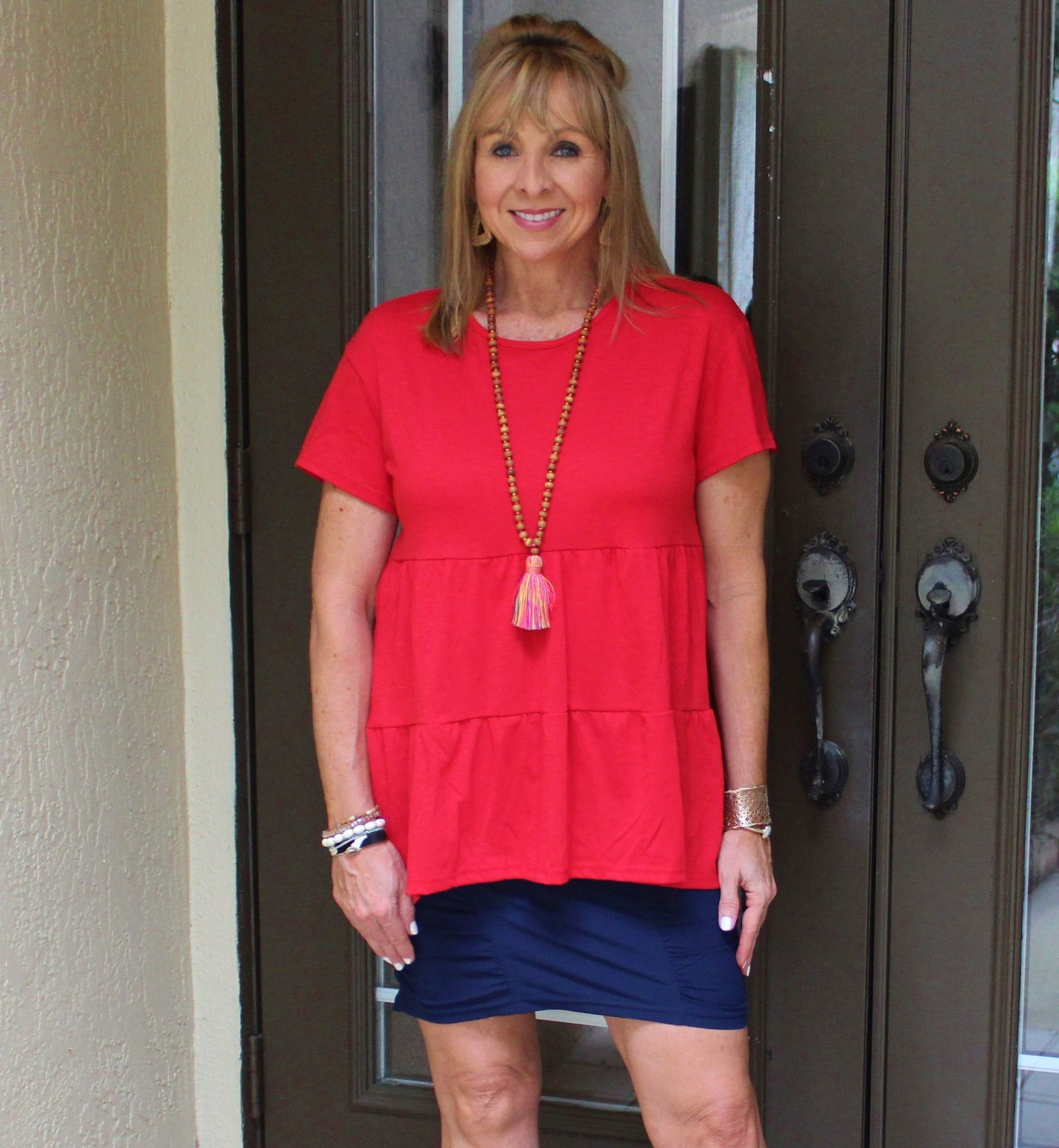 Red Tiered Tee