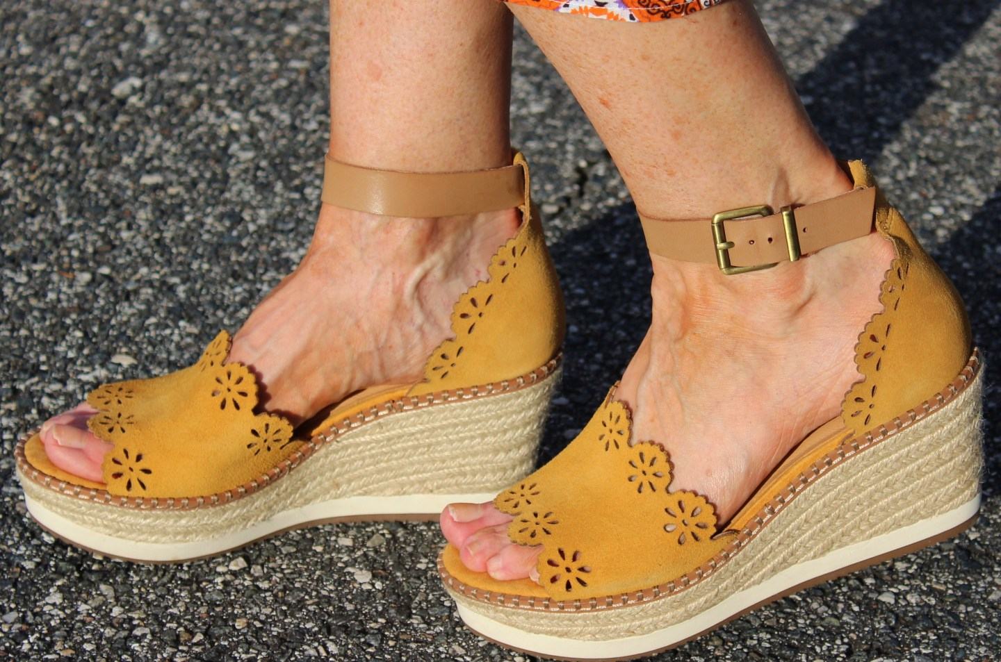 Mustard Espadrilles from DSW