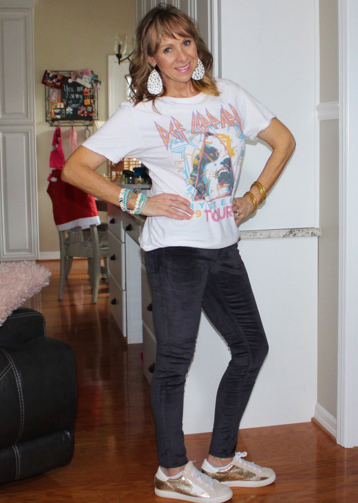 Graphic Tee + Velvet Jeans