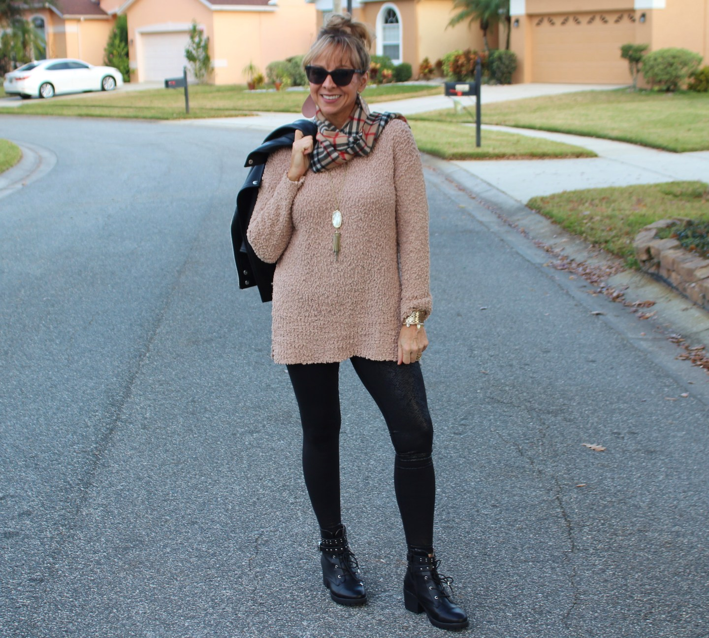 Amazon Tunic + Faux Leather Leggings