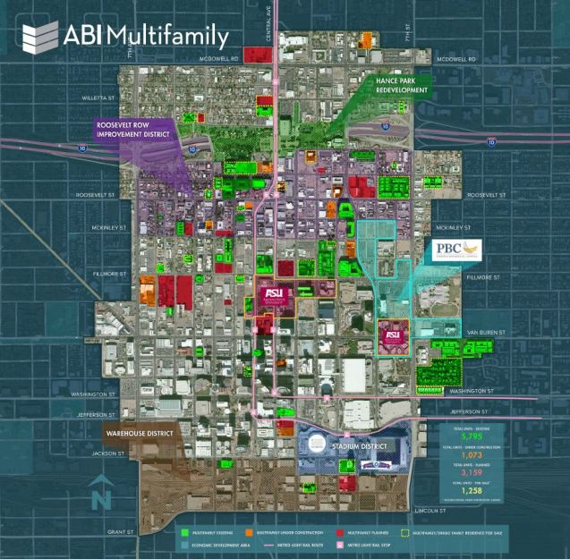 ABIMultifamily released a report on the 4,400 residential units planned for or under construction in Downtown Phoenix.