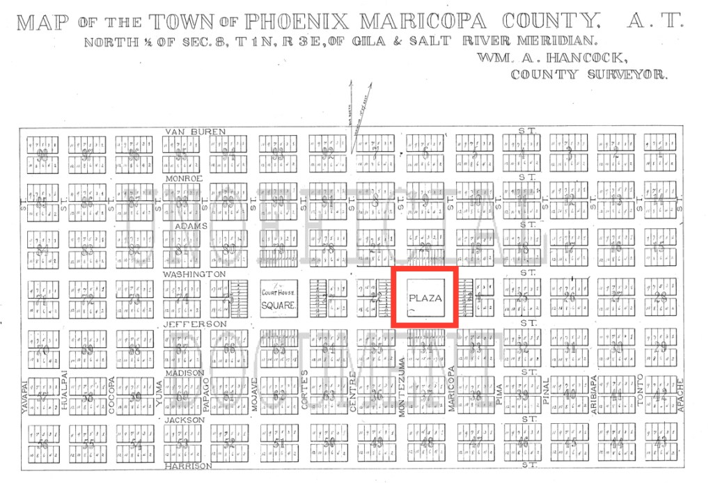 Original map of Phoenix 1881, Block 23