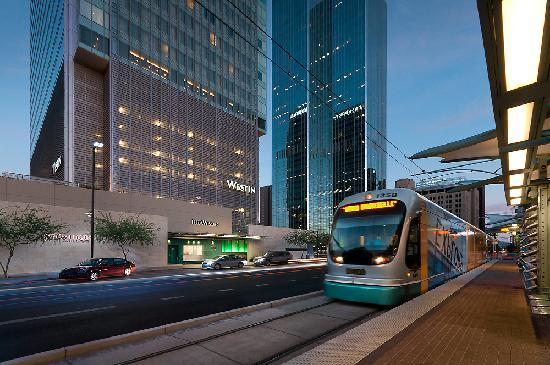 Light rail near Westin