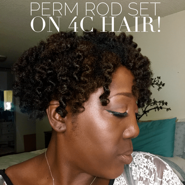 Natural Hair Perm Rod Set On 4c Hair This Curvy Girls Life