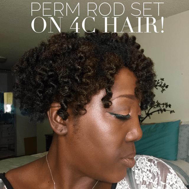 Natural Hair, How to style Natural Hair, Styling Natural Hair, Perm rod, Perm rod set, Perm Rod Set on Natural hair, Shea Moisture, Alikay Naturals, Be Kekoa, Natural hair products