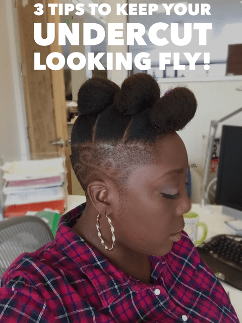Natural Hair, Undercut, Cutlife, How to style and Undercut, Keeping your Undercut looking fly, Natural Hair Style, Cut, Tapered Cut,
