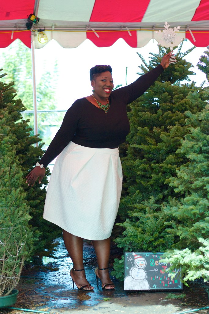 Eloquii, Plus Size, Fashion, Style, Curvy, Plus Size Fashion, Plus Size Style, Holiday Look, Holiday Fashion, Natural Hair, UnderCut, Christmas, Holiday Party, Eloquii Look, Eloquii Fashion, Eloquii Style