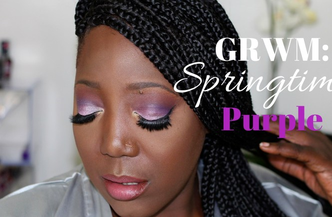 Make Up, Get Ready with Me, Make up tutorial, Make Up for Dark skin, Make up for women of color, Inglot, Maybelline, MAC, Lancome, Purple eyeshadow, Purple eye look, beauty blog, Beauty Blogger, Lifestyle blog, Natural hair, Fashion, Style blog, Style, Blogger, bblogger, This Curvy Girls Life